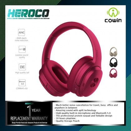 COWIN SE7 Active Noise Cancelling Lightweight Headset Stereo Wired Wireless Bluetooth Over Ear Headphones  with microphone, Deepbass, Aptx Technology