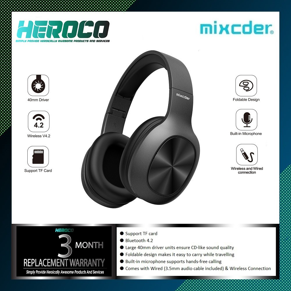Mixcder Hd901 Wireless Bluetooth Headphone Over Ear Wired Wireless Headphones Foldable Bluetooth 4 2 Headset With Mic Tf Card