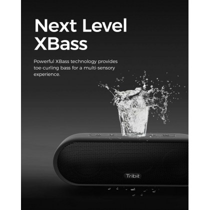 Tribit MaxSound Plus Portable Bluetooth Speaker, 24W Wireless Speaker with Powerful Louder Sound, Exceptional XBass, IPX7 Waterproof, 20-Hour Playtime, 100ft Bluetooth Range for Party, Travel, Outdoor