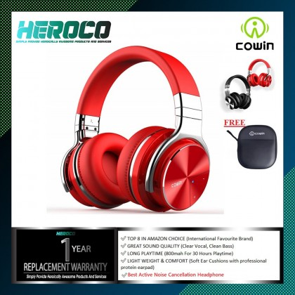 COWIN E7 PRO  Active Noise Cancelling Headphone Bluetooth Over Ear Headphones with Microphone Hi-Fi Deep Bass Wireless Headphones Over Ear 30H Playtime for Travel Work TV Computer Phone