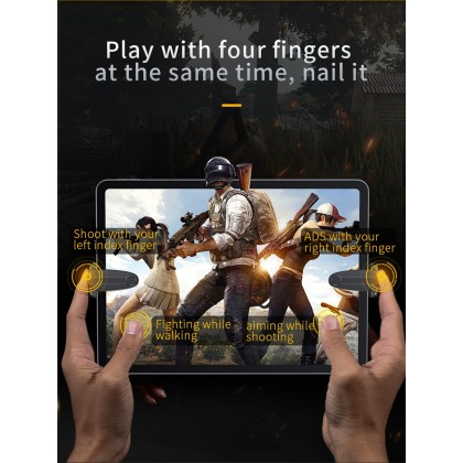 Baseus PUBG Phone Controller L1R1 Gaming Trigger for Tablets iPad Xiaomi Mobile Phone