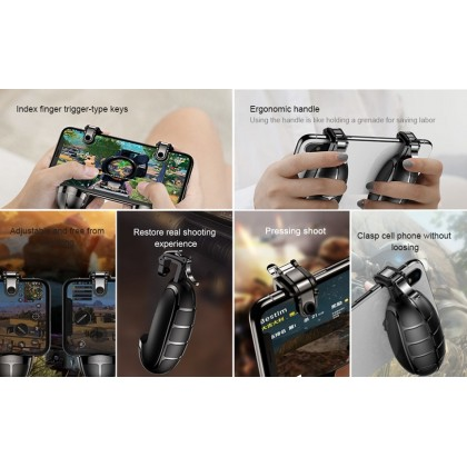 Baseus Trigger Fire Button Gamepad Joysticks Joypad For PUBG Mobile Game