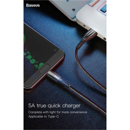 Baseus 5A USB Type C Cable for Huawei Mate 20 Pro P20 Lite Supercharge USB C Fast Charging Cable Type-C Cable for Samsung S10 S9
