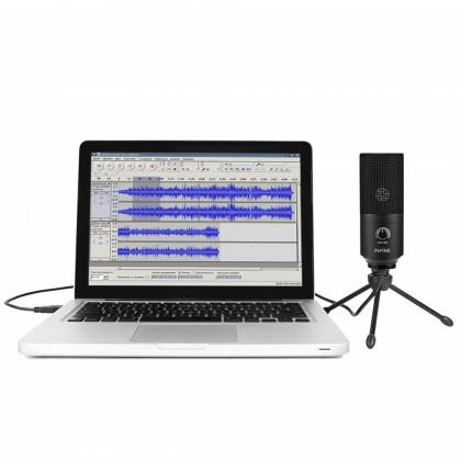 Fifine K669B Metal Condenser USB Microphone Recording Microphone For Laptop MAC Or Windows Cardioid Studio Recording Vocals, Voice Overs,Streaming Broadcast And YouTube Videos