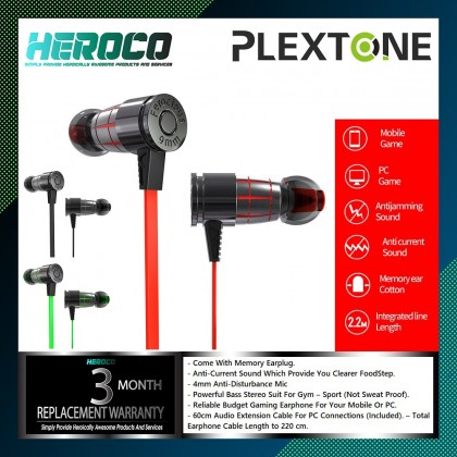 Plextone G25 Wired Bullets Gaming Headphones