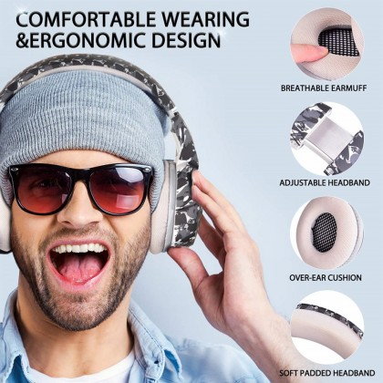 ONIKUMA K5 Xbox One Gaming Headset, PS4 Headset with 7.1 Surround Sound, Noise Canceling Over-Ear Headphones with Mic, Soft Memory Earmuff for PS4, PC, Xbox
