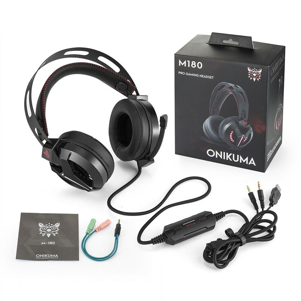ONIKUMA Gaming Headset PS4, Xbox One Headset with Microphone