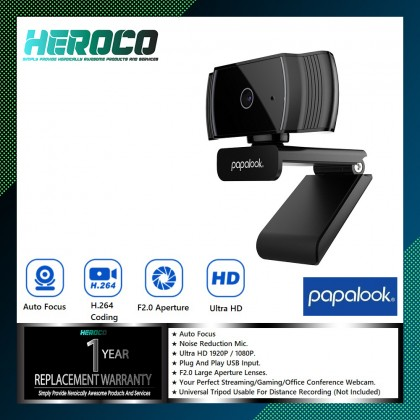 PAPALOOK AF925 USB 2.0 Web Cam Camera Built-in MIC Autofocus for PC Laptops TV