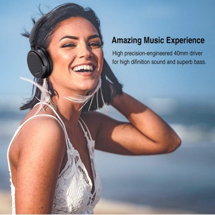 AUSDOM ANC7S Active Noise Cancelling Headphones Bluetooth, Wireless Headphones Over Ear with Microphone Hi-Fi Deep Bass Sound Carrying Case