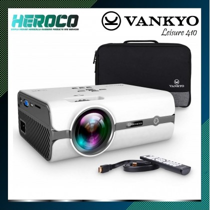 VANKYO Leisure 410 LED Projector with 3200 Lux, HDMI, USB, VGA, AV, SD Card, Compatible with PS3/PS4