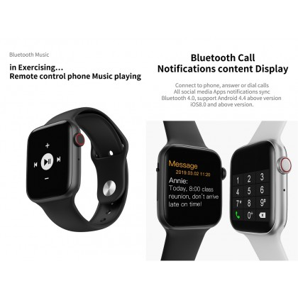 W34 Smart Watch Bluetooth Call Touch Screen Smartwatch Sport Tracker Passometer Heart Rate Monitoring SW-34