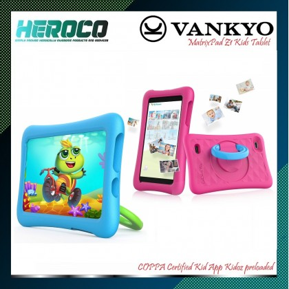 Vankyo MatrixPad Z1 Kids Tablet 7 inch, 32GB ROM, Kidoz Pre Installed, IPS HD Display, WiFi Android Tablet, Kid-Proof Case