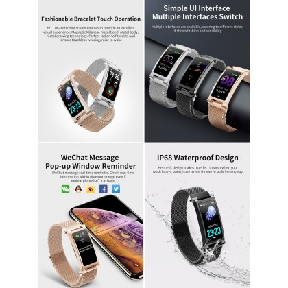 F8 Smart Watch Band Bracelet Wristband Heart Rate Blood Pressure Fitness Tracker Bluetooth 5.0 IOS Android