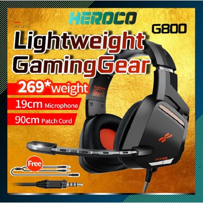 Plextone G800 Professional Gaming Headset Heavy bass Gaming Headphone Over-Ear with Mic lightweight design