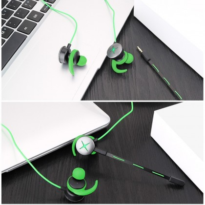 Gaming Earphone Microphone Razer V7 PUBG Game Headset Noise Cancelling HIFI Sport Stereo Earbud Mic With Mic In Ear Aipods