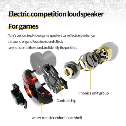 Plextone Wireless Bluetooth Gaming Earphone 4Life TWS True Wireless Headset for Video Gamers Tws Earbuds Music Headset
