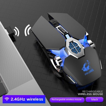 Rechargeable X13 Dual Wireless Silent Bluetooth LED Backlit USB Optical Ergonomic Gaming Mouse