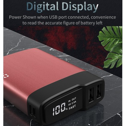 18W PD 3.0 QC 3.0 - 10000mah Mini Digital Portable FAST Charge Powerbank